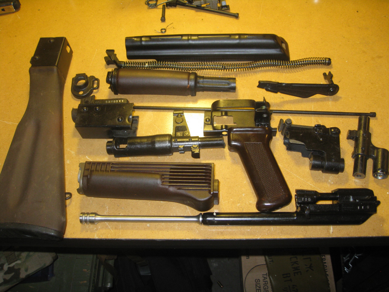 Russian AK furniture and folding hardware, S12 magwell, SVD